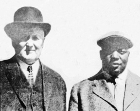 Anson and future Negro Leagues founder Foster (circa 1917, with their ages being, respectively, 65 and 37)